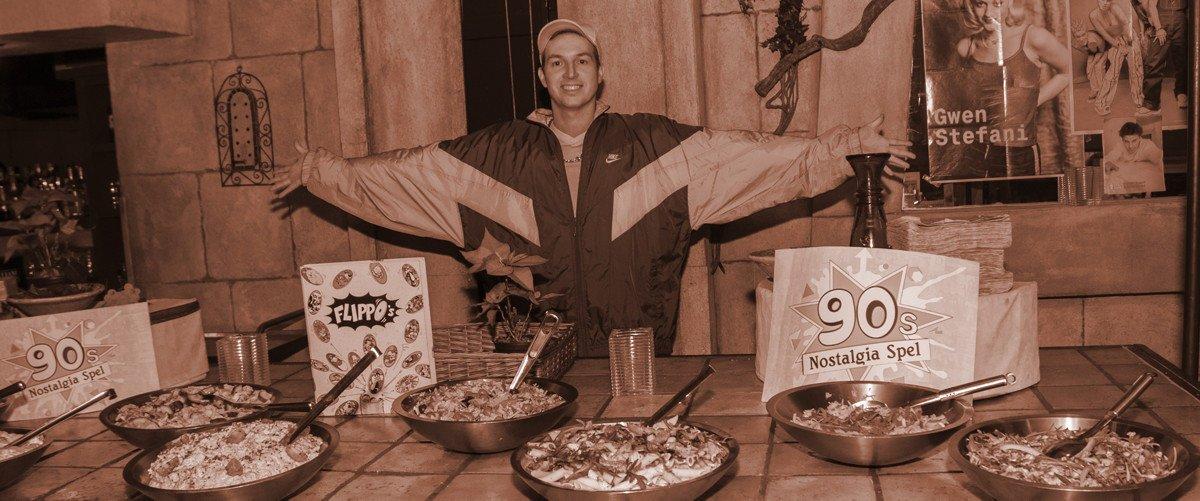 dinerspel, jaren 90, friends , flippo's furbie, bedrijfsuitje